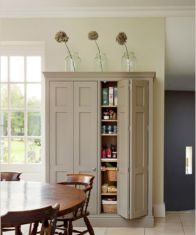 Amazing stand alone kitchen pantry design ideas (38)