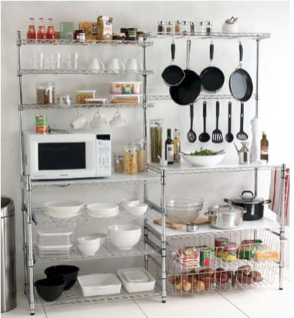 Amazing stand alone kitchen pantry design ideas (41)