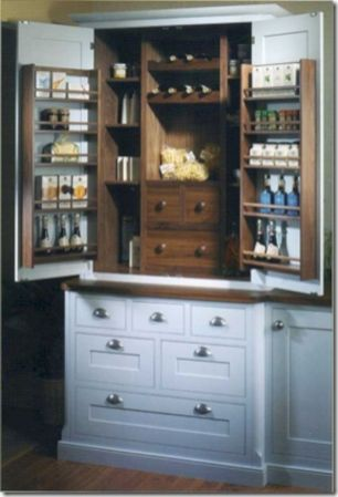 Amazing stand alone kitchen pantry design ideas (42)