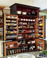 Amazing stand alone kitchen pantry design ideas (43)