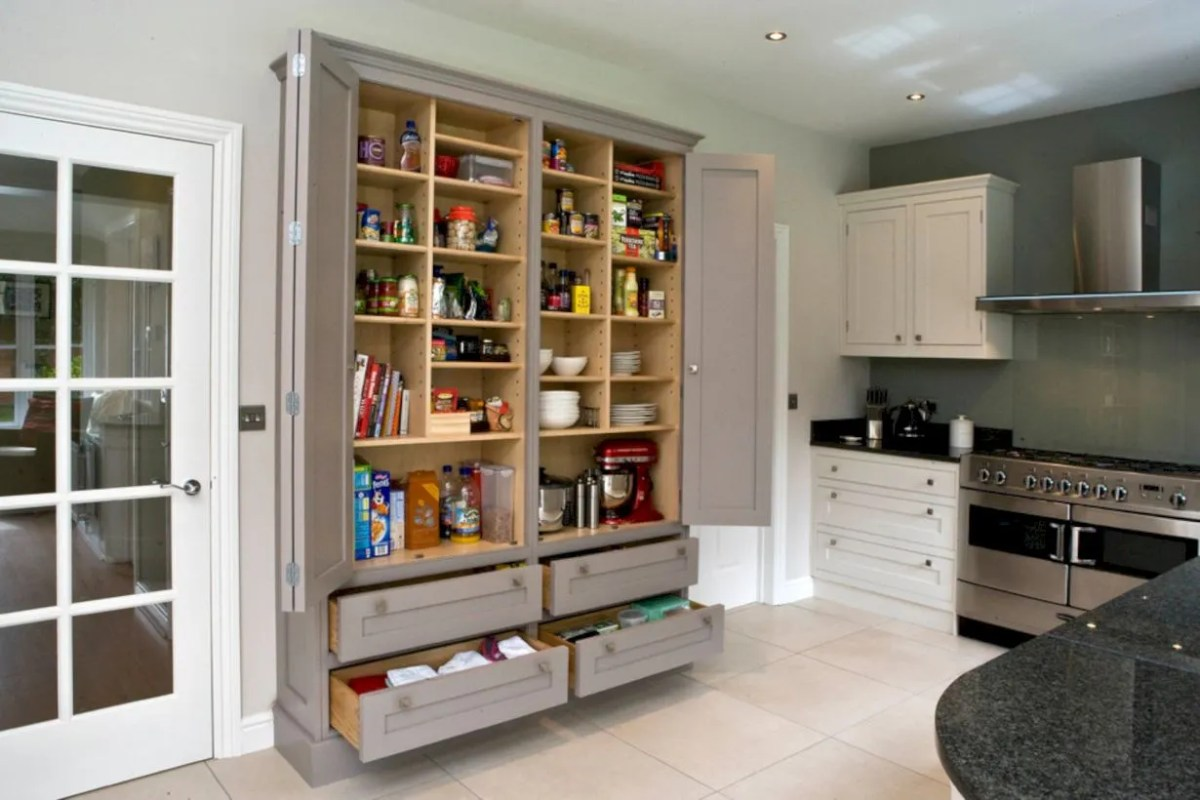 55 Amazing Stand Alone Kitchen Pantry Design Ideas