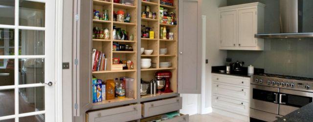 Amazing stand alone kitchen pantry design ideas (47)