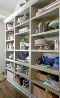 Amazing stand alone kitchen pantry design ideas (54)