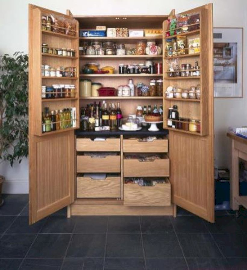 Amazing Stand Alone Kitchen Pantry Design Ideas (8)
