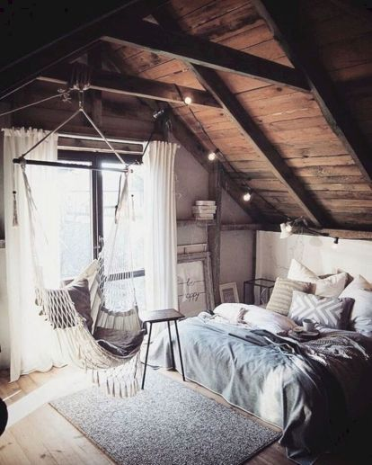Cozy bohemian teenage girls bedroom ideas (11)