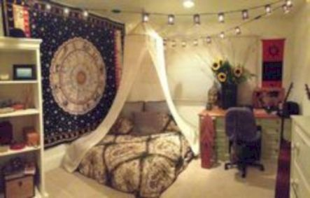 Cozy bohemian teenage girls bedroom ideas (24)