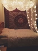 Cozy bohemian teenage girls bedroom ideas (4)