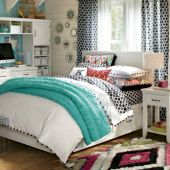Cozy bohemian teenage girls bedroom ideas (41)