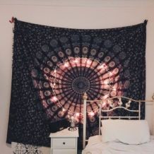 Cozy bohemian teenage girls bedroom ideas (8)