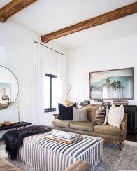 Creative diy beachy living room decor ideas (12)