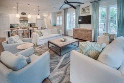 Creative diy beachy living room decor ideas (22)