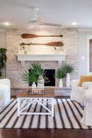 Creative diy beachy living room decor ideas (24)
