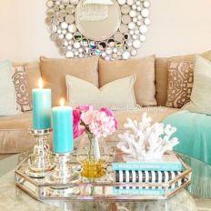 Creative diy beachy living room decor ideas (25)