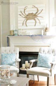 Creative diy beachy living room decor ideas (29)
