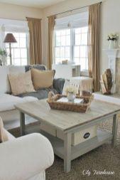 Creative diy beachy living room decor ideas (38)