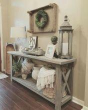 Creative diy beachy living room decor ideas (40)