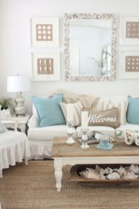 Creative diy beachy living room decor ideas (51)