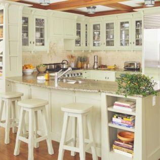 Inspiring u shaped kitchen ideas with breakfast bar (17)