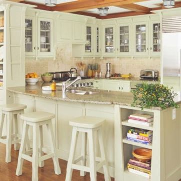 Inspiring u shaped kitchen ideas with breakfast bar (17)