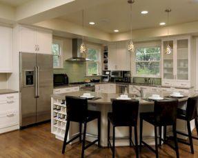 Inspiring u shaped kitchen ideas with breakfast bar (19)