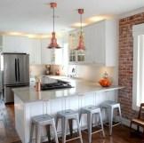 Inspiring u shaped kitchen ideas with breakfast bar (38)