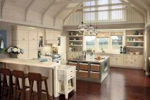 Inspiring u shaped kitchen ideas with breakfast bar (41)