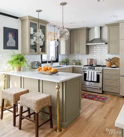 Inspiring u shaped kitchen ideas with breakfast bar (61)