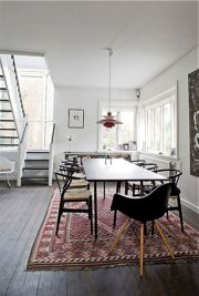 Mid century scandinavian dining room design ideas (1)