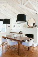 Mid century scandinavian dining room design ideas (13)