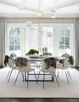 Mid century scandinavian dining room design ideas (14)