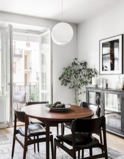 Mid century scandinavian dining room design ideas (18)