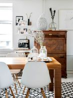 Mid century scandinavian dining room design ideas (20)