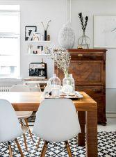 Mid century scandinavian dining room design ideas (20)