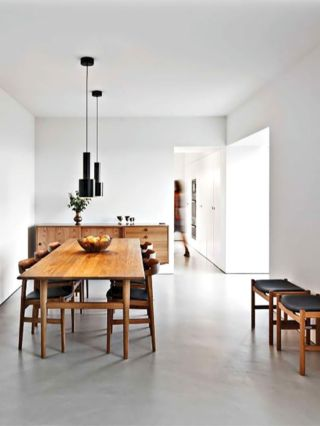 Mid century scandinavian dining room design ideas (26)