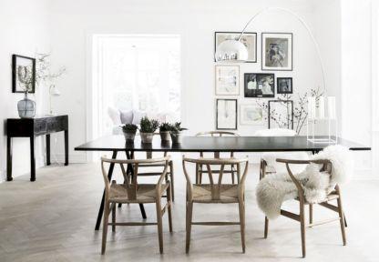 58 Mid Century Scandinavian Dining Room Design Ideas - Round Decor