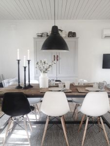 Mid century scandinavian dining room design ideas (33)