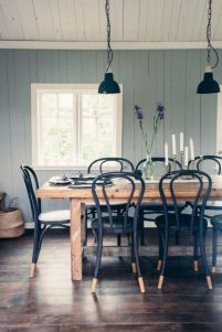 Mid century scandinavian dining room design ideas (35)