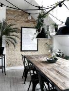 Mid century scandinavian dining room design ideas (37)