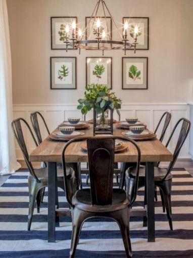 Mid century scandinavian dining room design ideas (41)
