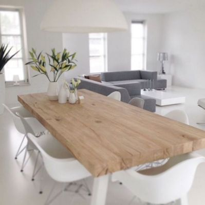 Mid century scandinavian dining room design ideas (42)