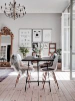 Mid century scandinavian dining room design ideas (44)