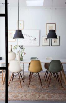 Mid century scandinavian dining room design ideas (48)