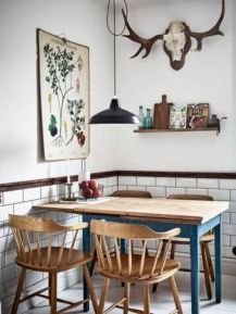 Mid century scandinavian dining room design ideas (49)