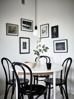 Mid century scandinavian dining room design ideas (57)