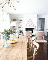 Mid century scandinavian dining room design ideas (7)