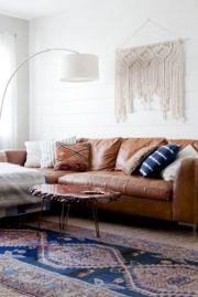 Modern leather living room furniture ideas (1)