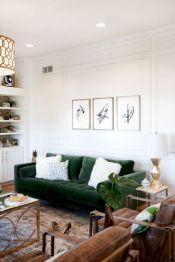 Modern leather living room furniture ideas (14)