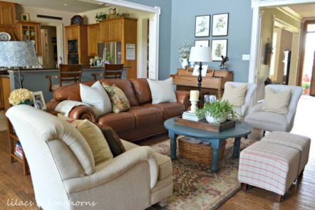 Modern leather living room furniture ideas (16)
