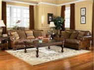 Modern leather living room furniture ideas (18)