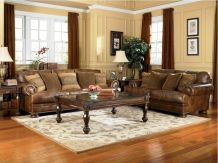 Modern leather living room furniture ideas (18)